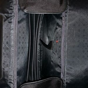 Foray Black Canvas Roll Luggage Briefcase